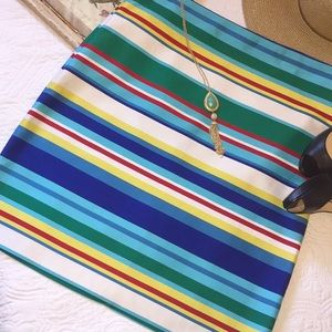 🎉HP🎉 Talbots vibrant striped skirt
